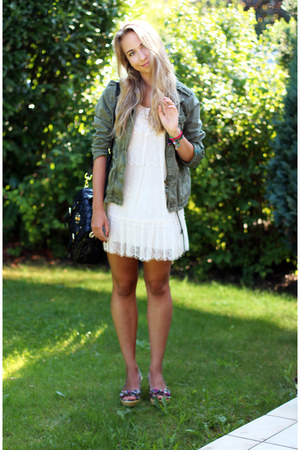 Aeropostale jacket - new look dress - Muberry bag - Primark wedges