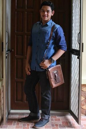 vintage Marlboro bag - chic Boxfresh boots - cotton Penshoppe shirt