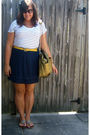 Blue-marshalls-shoes-blue-h-m-skirt-yellow-old-navy-belt-white-old-navy-to