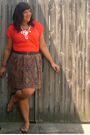 Gold-payless-shoes-brown-thrifted-skirt-brown-thrifted-belt-orange-new-yor