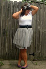 Purple-target-shoes-blue-diy-skirt-black-kohls-belt-white-bisou-bisou-t-sh