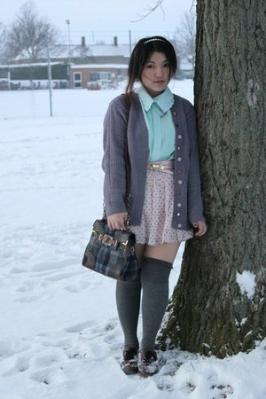 vintage sweater - River Island bag - asoscom socks