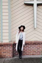 Urban Outfitters hat - Topshop boots - Gap coat