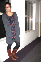 H&M sweater - Forever 21 dress - Target tights - Steve Madden boots - Forever 21