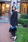 Blue-neff-hat-gray-old-navy-sweater-black-h-m-blazer-blue-h-m-dress-blac