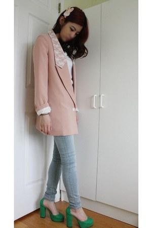 Charlotte Russe jeans - light pink gmarket blazer - white Target t-shirt - gmark