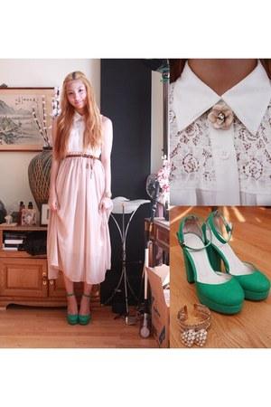 Forever21 blouse - skirt - heels