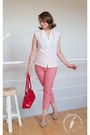 Red-leather-baron-bag-red-cotton-made-be-me-marchewkowapl-pants