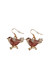 alloyrhinestone Twice earrings