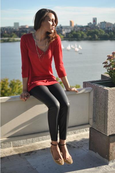 8b7830db Linen Zara Tops, Faux Leather Zara Pants, Studded Zara Flats ...