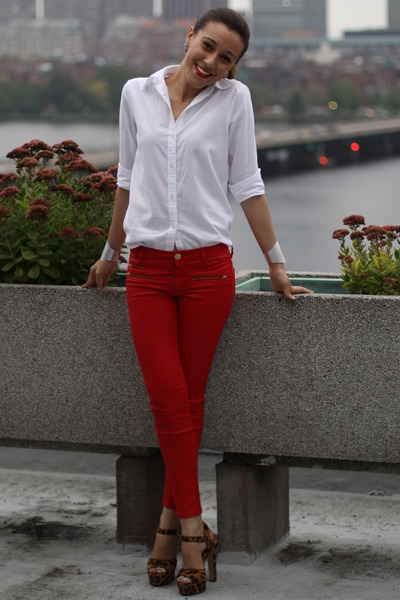 "White Ralph Lauren Shirts, Red Waxed Zara Pants | ""Skylines and ..."