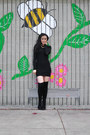 Black-aldo-boots-black-zara-dress