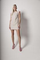 beige Cavortress dress - pink Diane Von Furstenburg shoes - white accessories