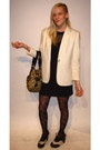 Cream-unknown-brand-blazer-black-unknown-brand-dress-black-juicy-couture-tig