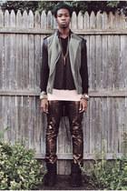 metallic H&M Trend jeans - micromesh American Apparel shirt