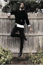 ottoman rib American Apparel sweater - studded Dr Martens boots