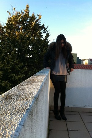 Mango boots - Purificacion Garcia coat - cotton Mango shirt