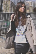 Primark t-shirt - trench-coat benetton jacket - clutch Zara bag