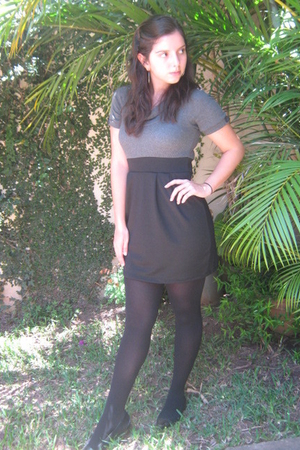 Zara tights - Mango shoes - dress - Mango sunglasses