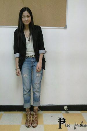 Jag jeans - black blazer - Gibi sandals