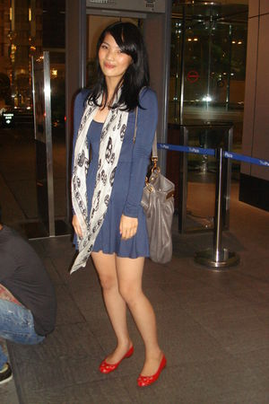 blue Topshop dress - Marc by Marc Jacobs shoes