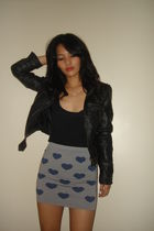 blue Topshop skirt