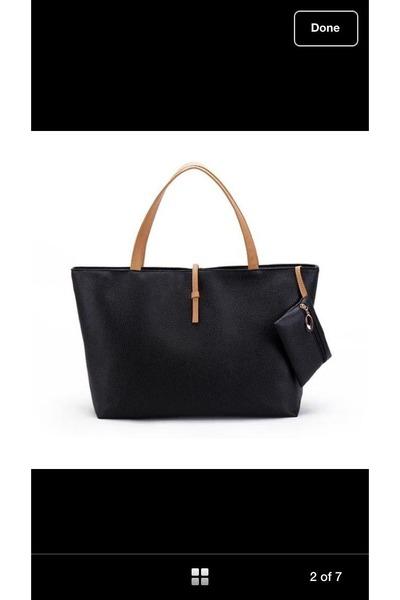 black manmade leather bag - black manmade leather bag