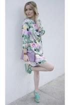 H&M dress - vintage purse - H&M wedges - Hermes watch