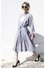 Silver-vintage-dress-light-purple-vintage-bag-black-zara-heels