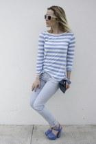 Casadei heels - Tally Weijl jeans - H&M sunglasses - Zara t-shirt