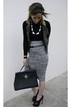 gianmarco lorenzi heels - Hermes bag - Terranova skirt - H&M necklace