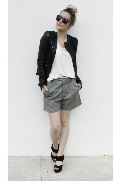 after pants vest - Chie Mihara heels - after pants top - Hermes watch