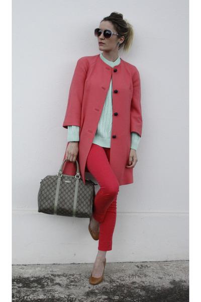 Zara coat - Gucci bag - Zara heels - H&M pants