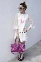 ovs dress - balenciaga bag - H&M sunglasses - Altramarea heels