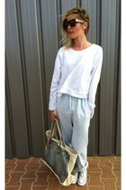 American Retro pants - V73 bag - Celine sunglasses - ZOE Tees top
