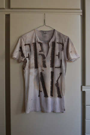 charcoal gray DIY t-shirt