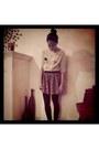 Beige-forever21-t-shirt-forever21-skirt