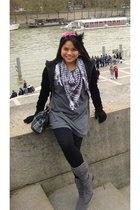 pieces jacket - forever 21 dress - Zara pants -