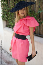 hot pink Lanvin for H&M dress - black Mimoki hat - black Bimba&Lola bag - hot pi