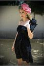 Beige-zara-shoes-black-zara-dress-hot-pink-moa-hat-black-tosca-blu-bag