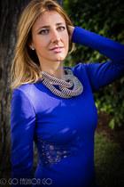 Uterque necklace - Emilio Pucci dress - Zara bag - Le Silla pumps