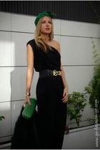 black Mango bodysuit - green Diane Von Furstenberg bag