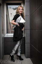silver Zara pants - black Massimo Dutti jacket
