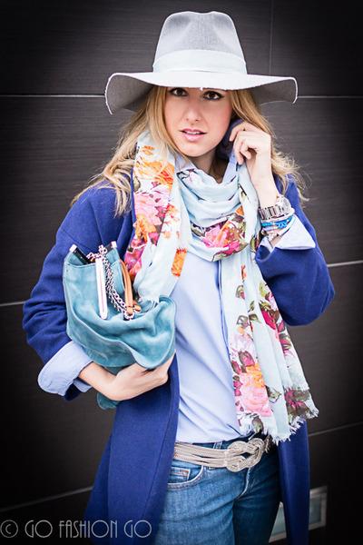 periwinkle Zara hat