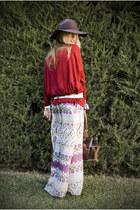 Zara skirt - Bijou Briggitte hat - Zara sweater