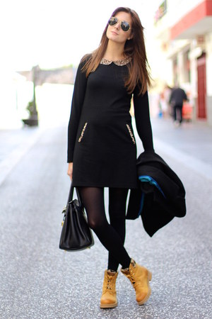 Panama Jack boots - Lefties dress - rayban sunglasses