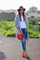 nowIStyle coat - Mango jeans - El Ganso hair accessory - Bershka heels