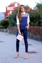 romwe shirt - Bimba y Lola bag - Zara panties - Mango heels