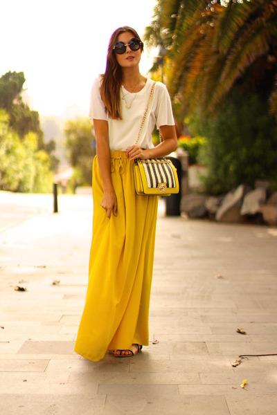 Zara skirt - Mango shirt - Choies bag - Dolce & Gabbana sunglasses