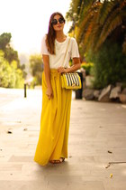 Zara skirt - Mango shirt - Choies bag - Dolce & Gabbana sunglasses